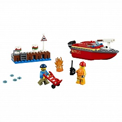 Конструктор из серии Lego City Fire - Пожар в порту (Lego, 60213-L)
