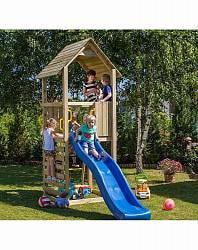 Набор для игровой площадки: детский домик с песочницей и горкой (Paremo, PS217-02)
