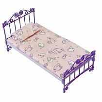 Кроватка с постельным бельем, в пакете (Огонек, ОГ1425)