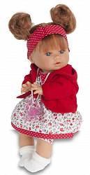 Кукла Кристи в красном, умеет плакать, 30 см. (Antonio Juan Munecas, 1337R)