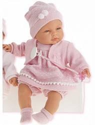 Кукла Соня в ярко-розовом, 37 см, плачет (Munecas Antonio, 1443V)