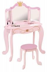 Туалетный столик-трельяж с зеркалом для девочки Принцесса Princess Vanity & Stool (KidKraft, 76123_KE)