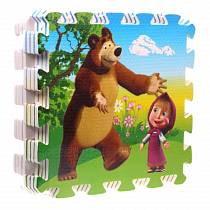 Коврик-пазл «Маша и медведь» 8 сегментов (Играем вместе, FS-Mmsim)