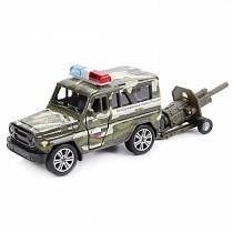 Игровой набор УАЗ Hunter, 11см и пушка (Технопарк, SB-17-15WBsim)