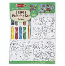 Набор раскрасок на холсте - Животные (Melissa&Doug, 9448_md)