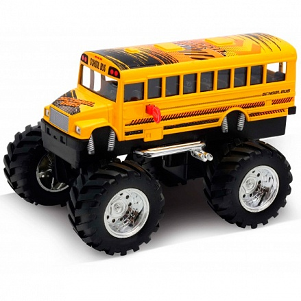 Модель машины School Bus Big Wheel Monster, 1:34-39