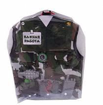Форма военного из серии Важная работа, 10 предметов с аксессуарами (Abtoys, PT-00782(WJ-A0006)