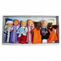Кукольный театр, 7 персонажей: Дед, Бабка, Аленушка, Волк, Лиса, Медведь, Курочка. В комплекте: сцена, сменные декорации, реквизит, сценарий (Весна, В300/С300)