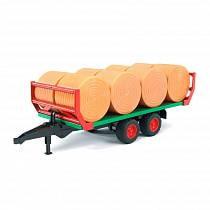 Прицеп для перевозки рулонов сена с 8 рулонами (Bruder, 02-220)