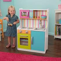 Деревянная игровая кухня для девочек Делюкс Мини Bright Toddler Kitchen (KidKraft, 53378_KE)