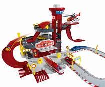 """Парковка - пожарная станция """"Cratix"""", 1 вертолет + 1 машинка (Majorette, 2050015)"""