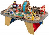 Игровой набор - Горный тоннель Waterfall Junction Train Set & Table (KidKraft, 17498_KE)