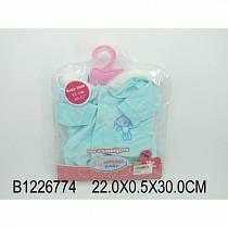 Комплект одежды для куклы, куртка с капюшоном, голубая (Baby Dolls, B1226774sim)