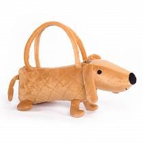 Собачка-сумочка коричневая, 35 см (Button Blue, 66-OT169486)