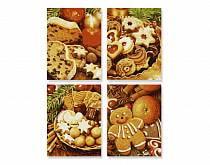 Рождественские пряники - 4 картины для раскрашивания, 18х24 см. (Schipper, 9340702)