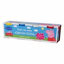 Тесто для лепки - Свинка Пеппа, 4 х 50 г (Росмэн, 33359ros)