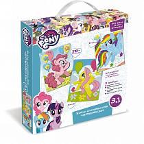 Набор аппликаций из песка, фольги и Eva 3 в 1 из серии My little pony™ - Понивиль (Origami, 03196-OR)
