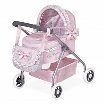Коляска с сумкой - Романтик, розовая 56 см (DeCuevas, 86019)