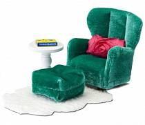 Кукольная мебель Смоланд - Кресло с пуфиком (Lundby, LB_60209300)