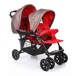 Коляска для двойни Tandem (Baby Care, BC002_Grey/Red)