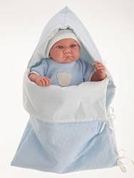 Озвученная кукла Ферран в голубом, 40 см (Antonio Juans Munecas, 3365B)