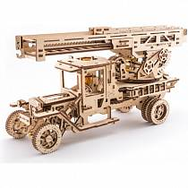 Сборная механическая модель из дерева - Пожарная лестница (UGears, 70022)