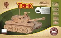 Модель деревянная сборная – Танк, 8 пластин (Wooden Toys, P050)