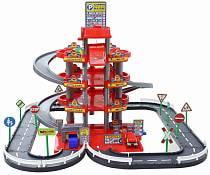 Паркинг 4-уровневый с дорогой и автомобилями (Полесье, п-44723)