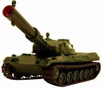Гусеничный танк с пневмопушкой (ПК Форма, С-16-Ф)