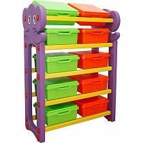 Стеллаж для хранения игрушек с крышками, 5 секций (Happy Box, JM-809D)