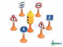 Дорожные знаки №1, светофор, 6 знаков (Нордпласт, Н-885)