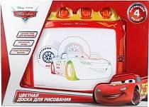Доска для рисования «Дисней Тачки» магнитная, цветная с аксессуарами (Играем вместе, HS223-Crsim)