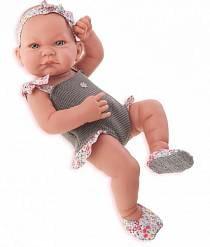 Кукла-младенец Ника в сером, 42 см. (Antonio Juan Munecas, 5008G)