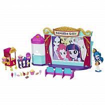 Игровой набор мини-кукол Кинотеатр из серии My Little Pony Equestria Girls (Hasbro, C0409EU4)