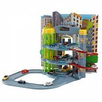 """""""Автомобильный центр"""" с дорогой, 3 этажа и 5 машинок (Majorette, 205819)"""