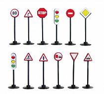 Игровой набор - Дорожные знаки, 12 шт. (Спектр, У593veg)