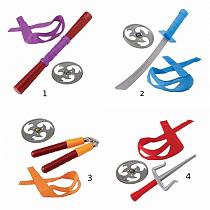 Боевое снаряжение из серии Черепашки-ниндзя, со звуком, 4 вида (Playmates, 92100)