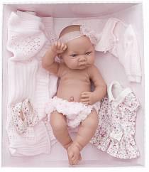 Кукла - младенец Эльза в розовом, 42 см. (Antonio Juan Munecas, 5073P)