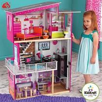 Дом для Барби - Роскошный дизайн Luxury - с мебелью и интерактивом (KidKraft, 65871_KE)