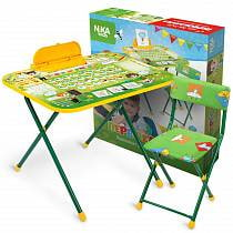 Набор детской мебели Первоклашка: Стол-парта, пенал, стул мягкий (Ника, NK-75/2sim)