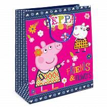 Пакет подарочный – Свинка Пеппа и Сьюзи, 23 х 18 х 10 см. (Росмэн, 31020ros)