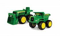 Набор для песочницы - Трактор и самосвал John Deere (Tomy, 42952st)