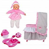 Набор Bambolina Boutique – кровать с постельным бельем, частично мягконабивная кукла и набор аксессуаров (Dimian, 9612WB-M4)