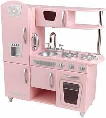 Кухня детская из дерева - Винтаж, цвет розовый (Pink Vintage Kitchen) (KidKraft, 53179_KE)