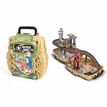 Игровой набор: Нано-Армия, мини трек в рюкзаке с наполнением (Chap Mei, 524002)