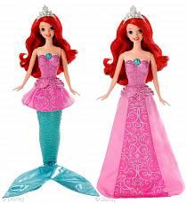 DISNEY - поющая Ариэль, в комплекте хвостик + платье (Mattel, Y9955)