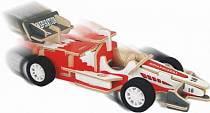 Модель деревянная сборная – Гоночный болид, с механизмом (Wooden Toys, HL003A)