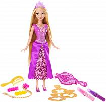 Кукла Рапунцель Disney Princess, серия Стильные прически (Mattel, DFR35-CJP12)