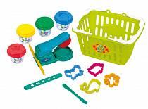 Набор с пластилином и аксессуарами в корзине (Playgo, Play 8750veg)