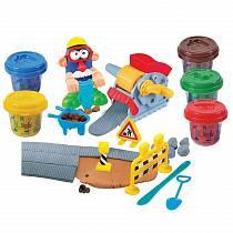 Набор с пластилином - Дорожные работы (Playgo, Play 8637veg)